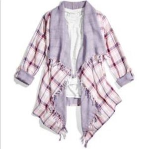Reversible Plaid Cardigan & Tank set